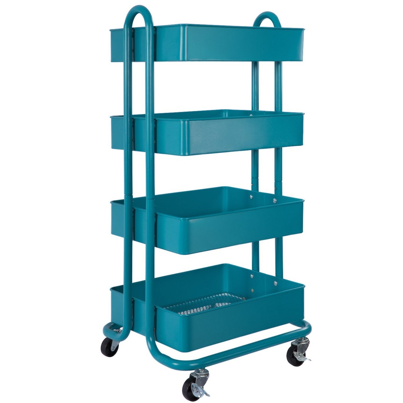 Amazon.com : DESIGNA Metal Utility Rolling Mesh Storage Organization ...