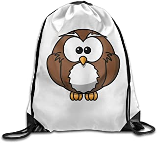 Liumiang Sacs à Dos,Sacs de Sport,Sacs à Cordon, Eco-Friendly Pirnt Unisex Cartoon Owl Print Exotic Drawstring Backpack Rucksack Shoulder Bags Gym Bag Sport Bag