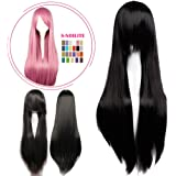 S-noilite Cosplay Wig Real Thick Heat Resistant Synthetic Hair Halloween Anime Hair Costume Full Head Wigs for Womens Girls