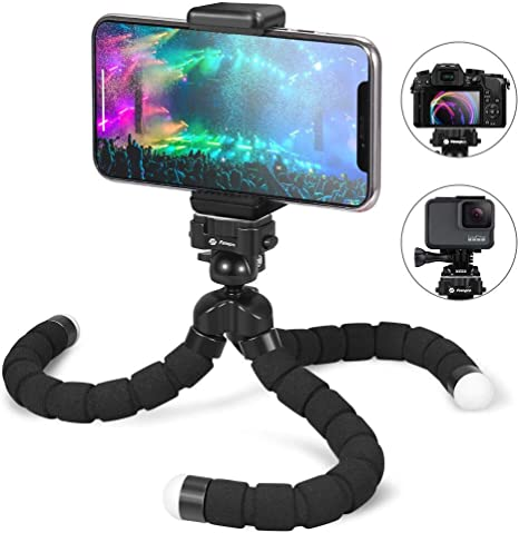 Fotopro Phone Tripode Flexible, 360°Mini Tripode Ligero con ...
