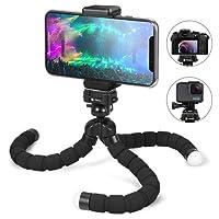 Fotopro Smartphone Trépied avec Bluetooth Déclencheur à Distance pour iPhone, Samsung Und Autres Smartphones, Appareil Photo, Gopro (Jambes Plus Longues)