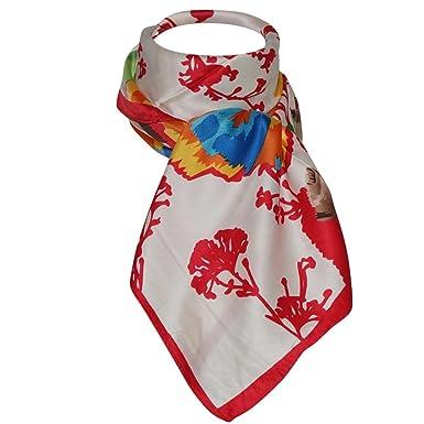 59818524c10a Foulard carré soie rouge Elina  Amazon.fr  Vêtements et accessoires
