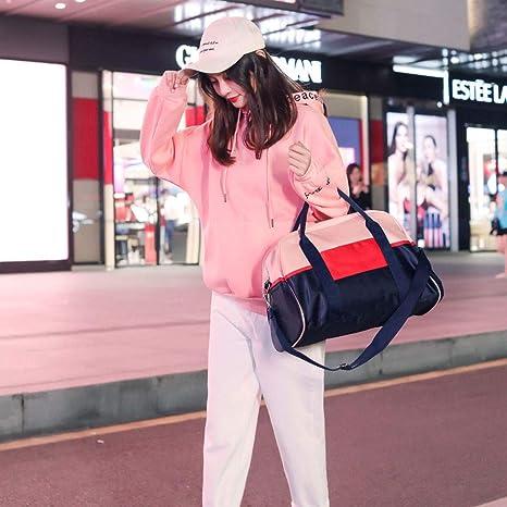 Pink Sports Gym Bag Teng Peng Sports Backpack Dry and Wet Separation Short-Distance Travel Bag Female Portable Light Luggage Bag Travel Bag Waterproof Shoulder Bag Shoes Fitness Bag