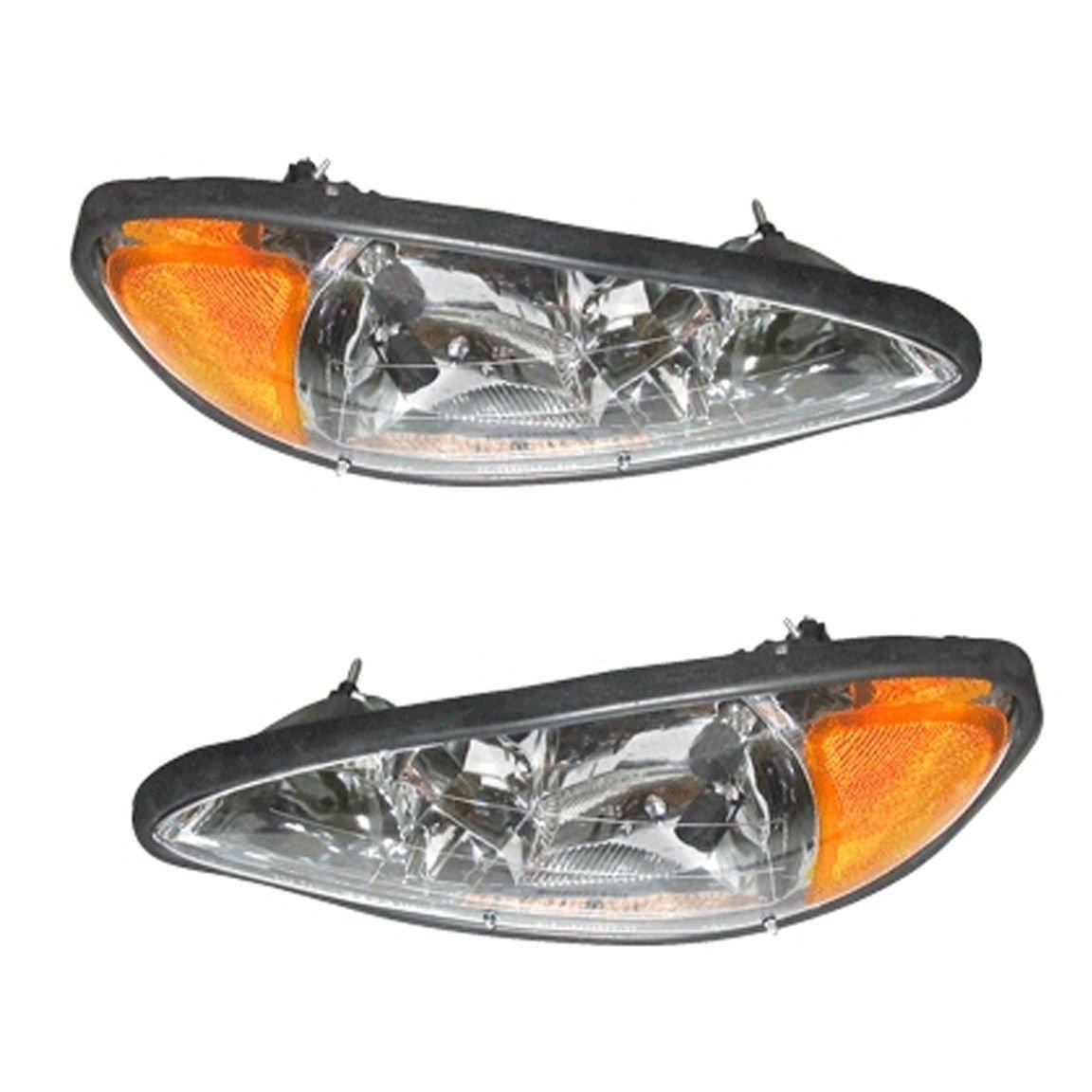 Pontiac Grand Am 1999-2005 99 00 01 02 03 04 05 Head Light Headlight Pair Set Auto Parts Avenue 1109180