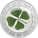 4 LEAF CLOVER SILVER COIN %2D 1 oz Sterl