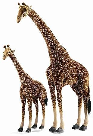 Amazon Com Hansa Life Size Medium Standing Giraffe Plush Stuffed