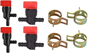 "mdairc 1/4"" Inline Gas Fuel Cut Off Shut Off Valve for Briggs & Stratton 493960 494768 698183 John Deere AM36141 AM107340"