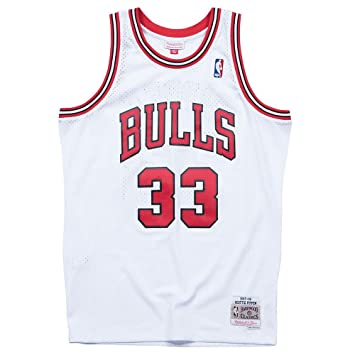 cheap for discount dbf60 381a5 Mitchell & Ness Chicago Bulls Scottie Pippen Swingman Jersey NBA Throwback  White