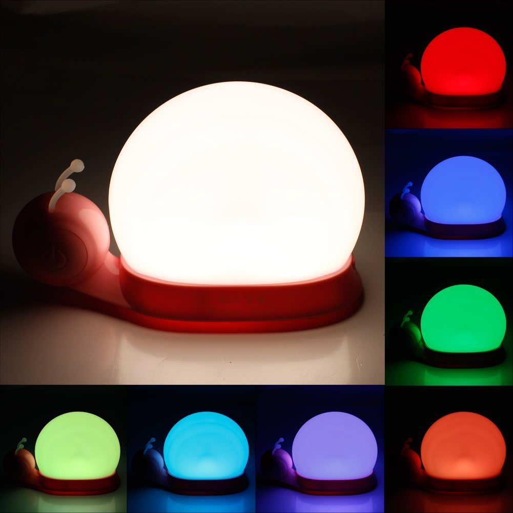 Cool de mignon duescargot lampe de mur lumire de nuit les lumires led lampes de chevet lampes bb - Lampe pour chambre a coucher ...