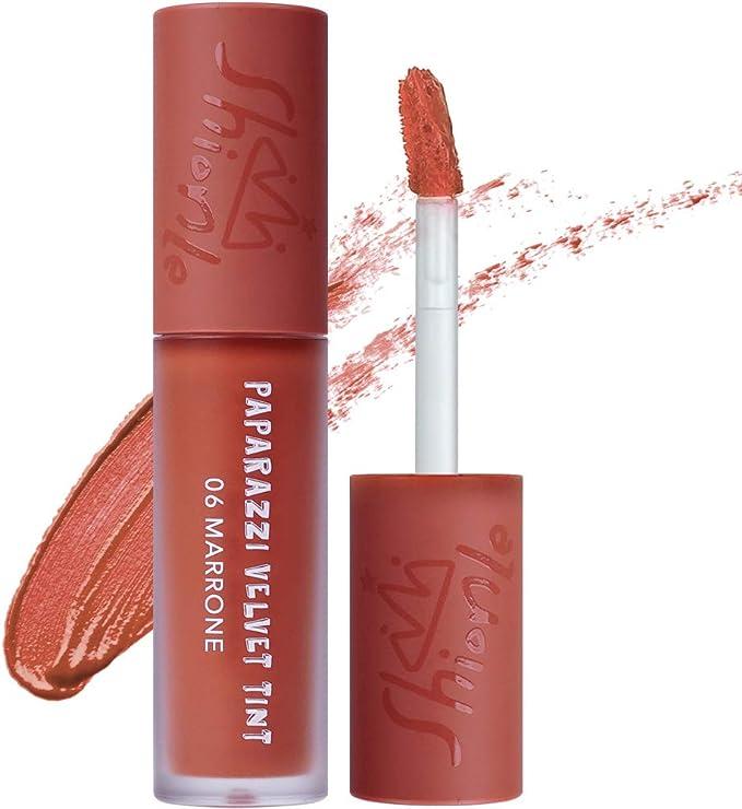 SHIONLE - Tinte de terciopelo Paparazzi: tinte de labios de larga duración con efectos hidratantes | Cobertura de arrugas | aspecto de gradación | ...