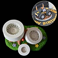 WindGoal Tyre Silicone Mold, 3D Car Vehicle Tyre Mould Motorbike Chocolate Fondant Cake Mold Tool,1PCS