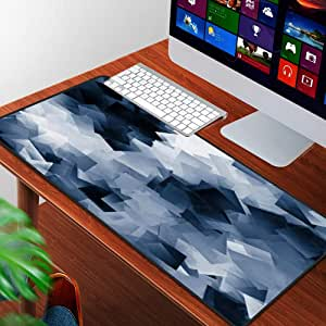 Alfombrilla Raton Grande Gaming Mouse Pad,Nota Gris Negro