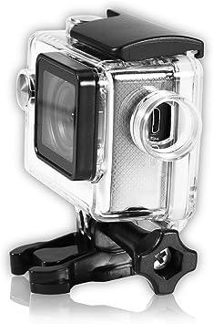 Diyeeni Funda Impermeable para cámara de acción, Carcasa Protectora subacuática con Cable de Carga, Carcasa Impermeable para cámara Deportiva para SJCAM SJ4000/SJ7000: Amazon.es: Electrónica