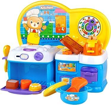 Symiu Juegos de Cocinita Infantil Juguetes Cumpleaños Regalos para Niños 3 4 5 Años con Música y Luz: Amazon.es: Juguetes y juegos