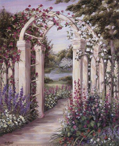 - Garden Escape II by Carol Saxe - 8x10 Inches - Art Print Poster