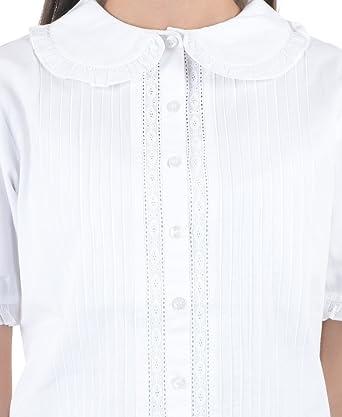 Blanca de algodón de Peter Pan blusa de Vintage patrones para ...