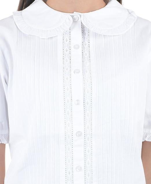 Blanca de algodón de Peter Pan blusa de Vintage patrones para coser ...
