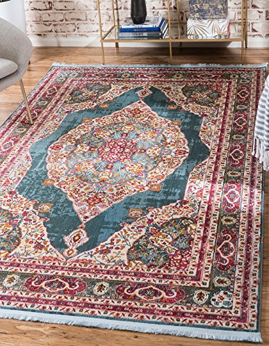 (A2Z Rug Turquoise 2' 2 x 3' Feet St. Tropez Collection Traditional and Modern Area Rugs and Carpet)