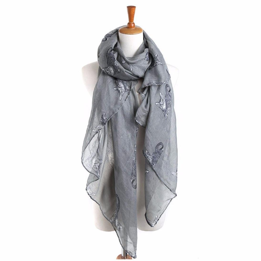 acc054edbdb Internet Châle Foulard en Mousseline de soie Foulards Longue écharpe Belle  Accessoire