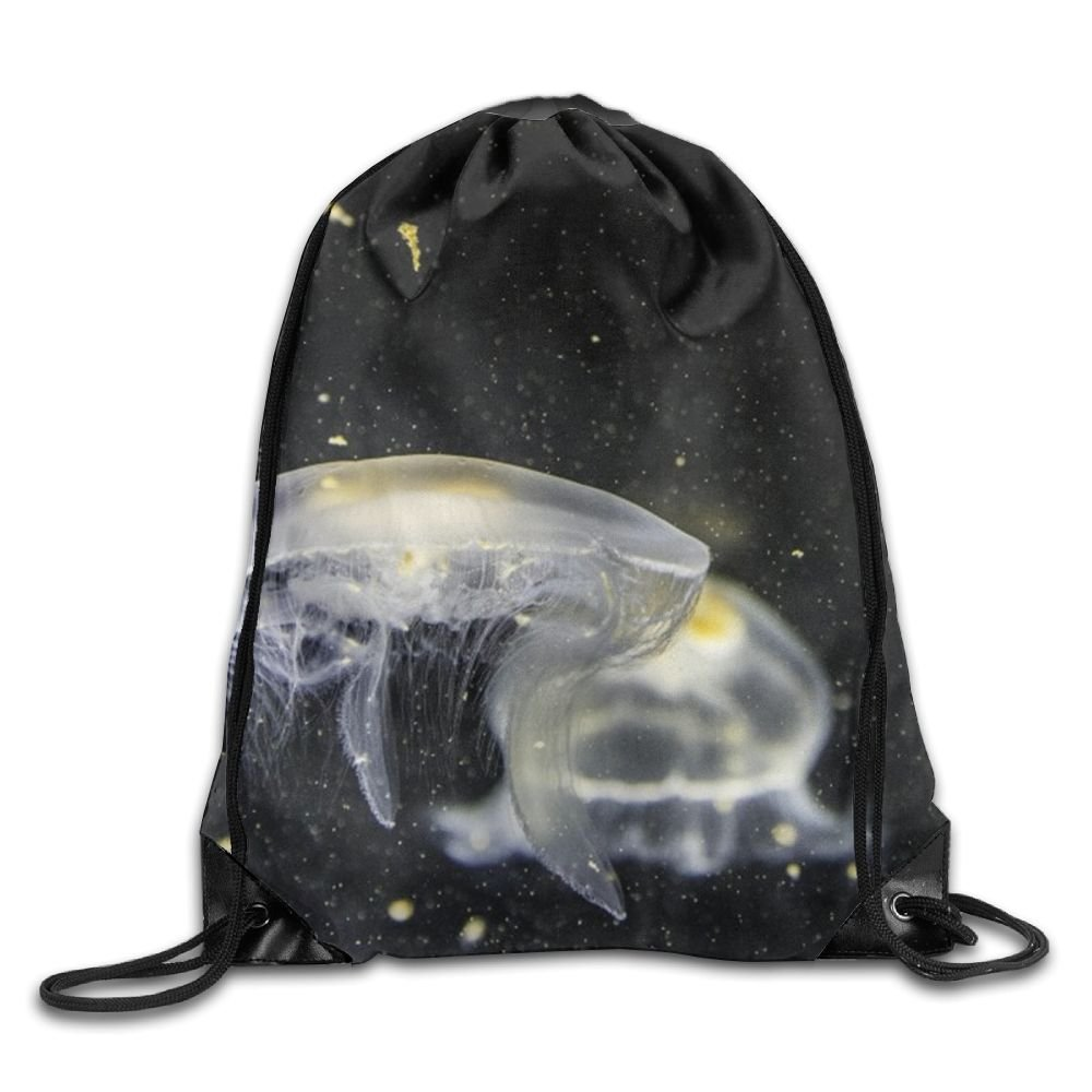 Jellyfish Drawstring Backpack Rucksack Shoulder Bags Training Gym Sack For Man And Women