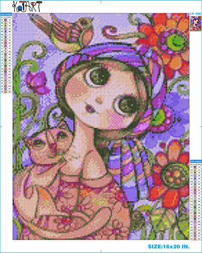 Kitty Cat Cross Stitch - KOTART Diamond Painting Kits for Adults 16x20