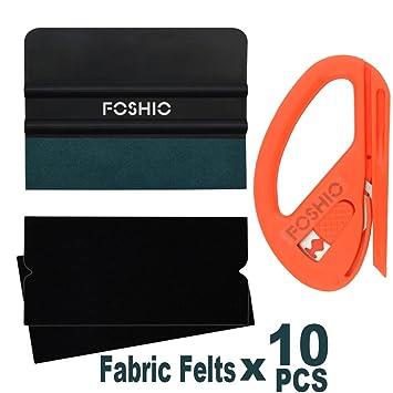 fa600bd83a FOSHIO Kit de Herramientas de instalación de Vinilo automotriz 3 en 1  Incluye Cortador de Seguridad