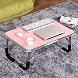 GUI Table-Aluminum Alloy Foldable Laptop Tables Simple Bed with Table Learning Small Desk,2