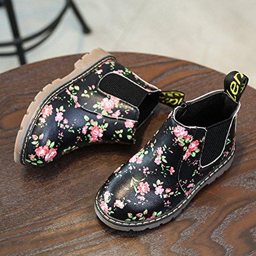 toddler Boots Martin Little Plotbaby Premium Souple Noir Thick Sneaker Kid D'hiver Semelle qx74wx8