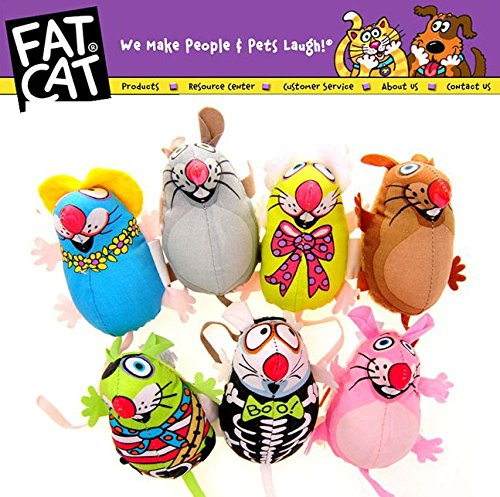 Unpre (TM)Fatcat Pet Little Dog Mice Toy Fat Cat Canvas Toy Colorful Mouse Fat Cat Toy With Catmint Catnip Funny Pet Product