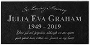in Loving Memory Personalized Memorial Stone Laser Etched Loved One Plaque in Rememberance of Mom Dad Family Condolence Gift Indoor Outdoor Garden Marker