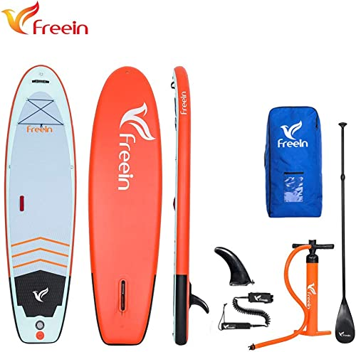 Freein Yoga Inflatable Board Stand Up Paddle Board 10 6 Long 33 Wide 6 Thick SUP Complete Package