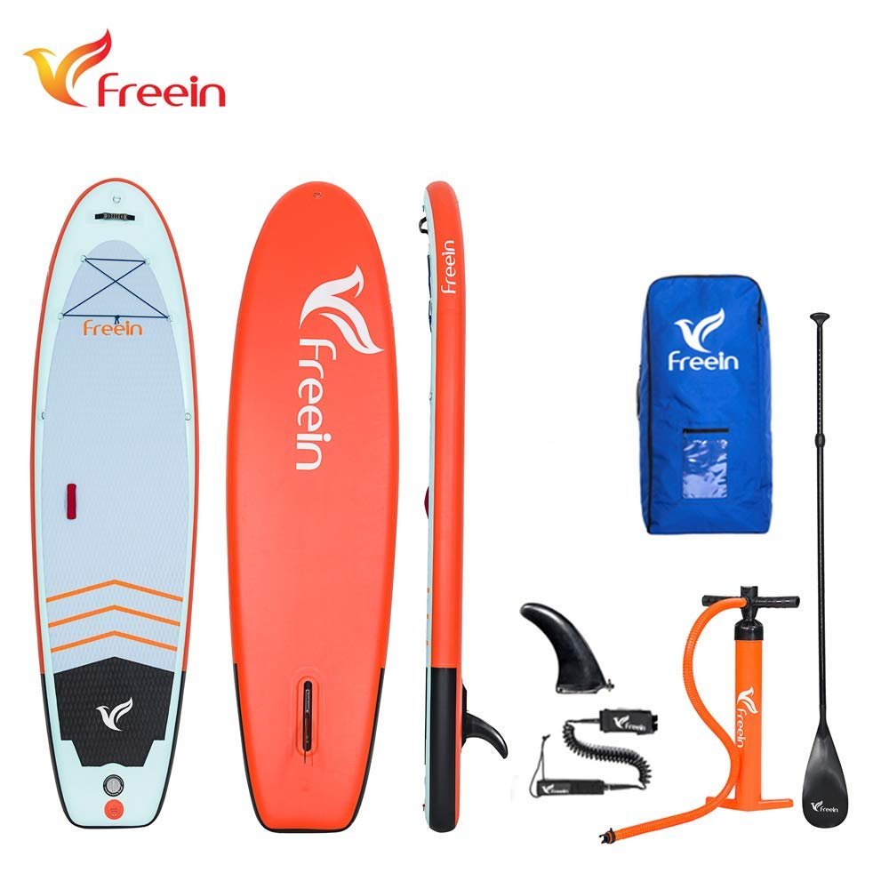 Freein Yoga Inflatable Board Stand Up Paddle Board 10'6'' Long 33'' Wide 6'' Thick SUP Complete Package by Freein