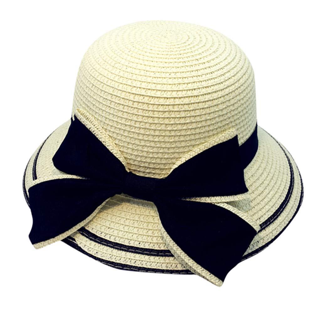 💗MINXINWY Sombrero Paja de Niño, Sombrero Niña Gorro Vacaciones ...