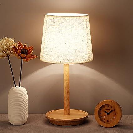 artisanat de qualité gros en ligne regarder Yxsd Nordic Chambre Lampe De Table en Bois LED Créatif en ...