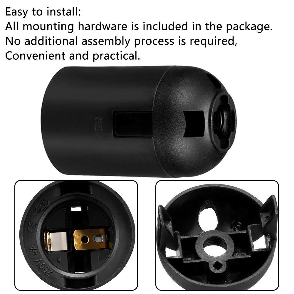 Adaptateur en Plastique pour Abat-jour,4pcs BESLIME E27 lumi/ère Douille Douille /à ampoule vintage,Plastique Porte-Lampe