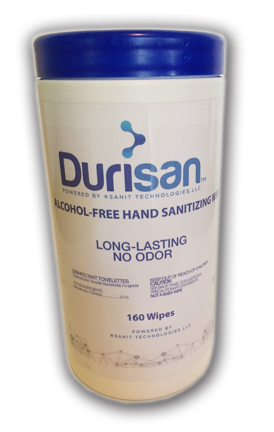 Durisan Hand Sanitizer Wipes 6''x6.75'' - 160 Count