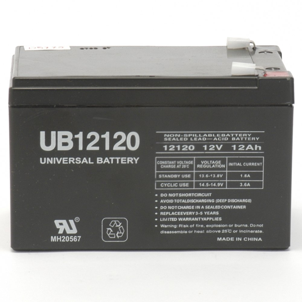 Universal Power Group 12V 12Ah Battery Shoprider Scootie TE-787NA