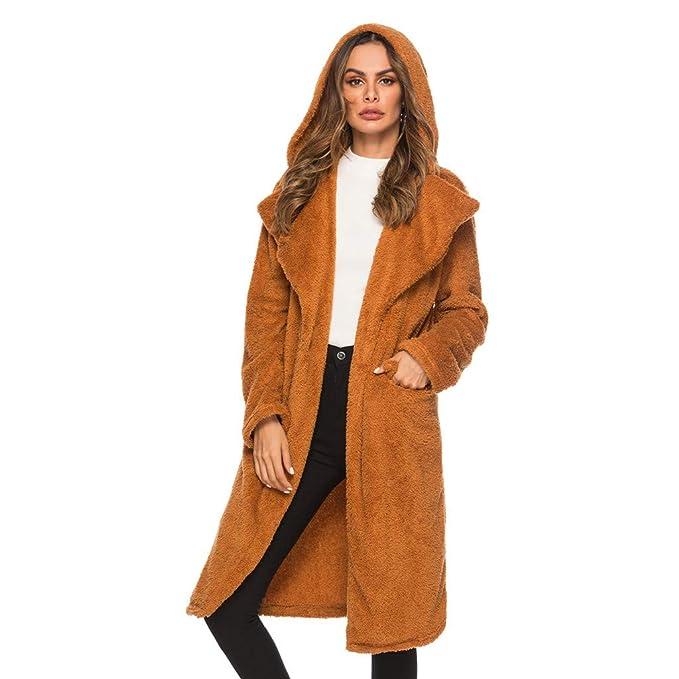 Trench Donna 2020 Cappotto Cammello Soprabito Manica Lunga Cappotto Invernale per L'inverno