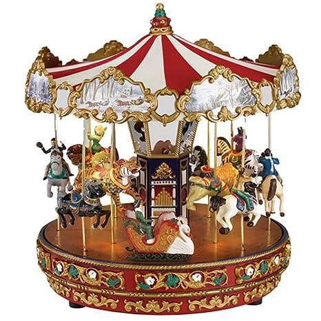 Mr Christmas Carousel.Mr Christmas Gold Label Animated Musical The Carousel