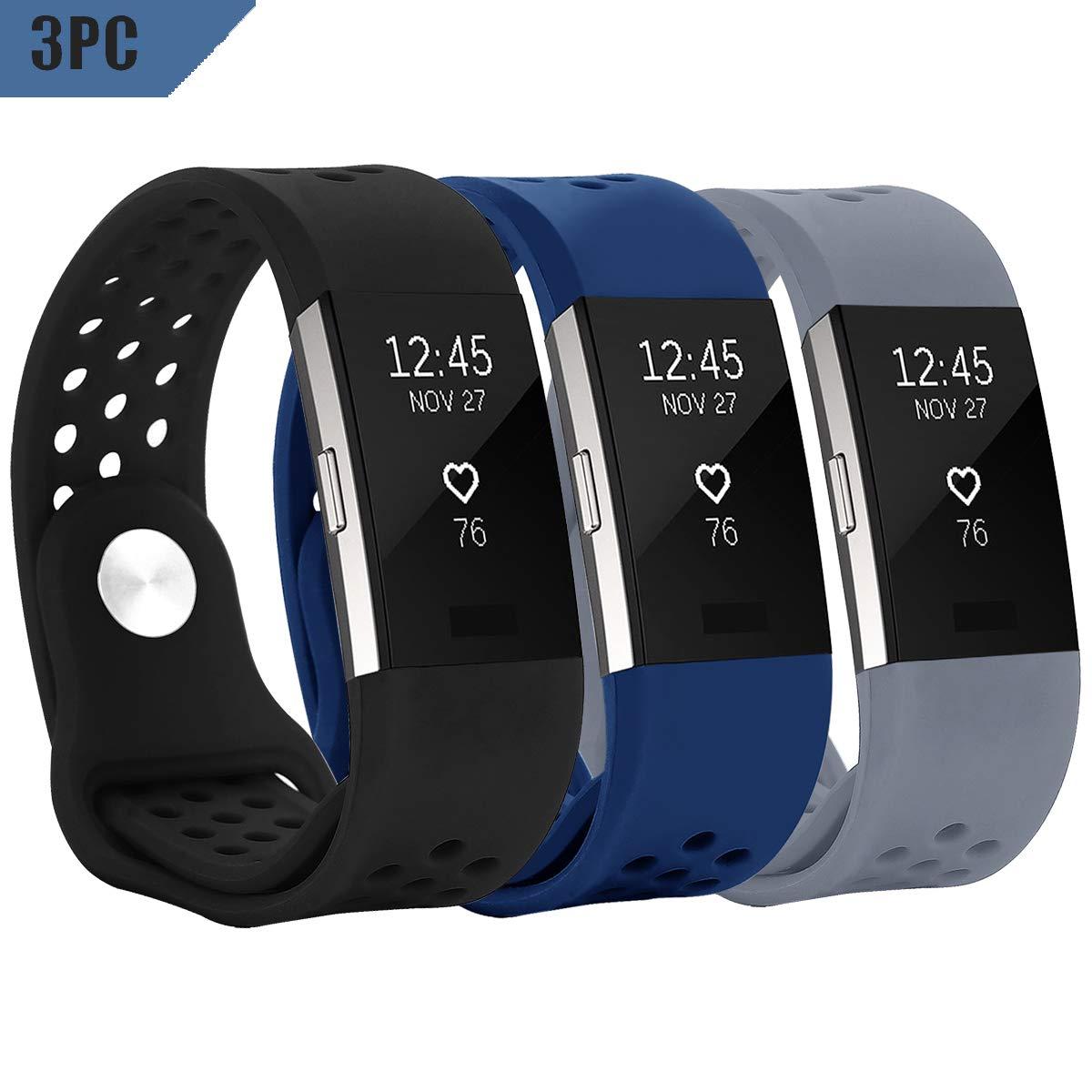 Yometome Fitbit Charge 2 Cinturino, Charge2 Wrist Cinturino Morbido Silicone Sostituzione Regolabile Sport Della Fascia Della Cinghia Smartwatch Cardiaca Fitness Wristband per Fitbit Charge 2