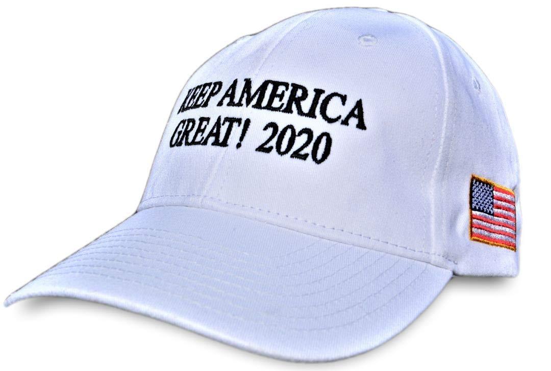MAGA Donald Trump Keep America Great 2020 100% Made in USA Unique Premium Hat #KAG (White)