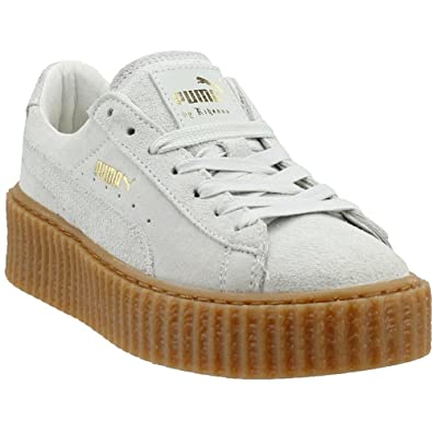 low priced 78b17 4f0de PUMA Womens Fenty by Rihanna Suede Creeper Casual Sneakers Shoes,