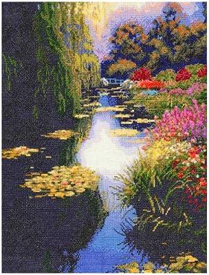 Candamar Cross Stitch Kit View From Monet/'s Bridge