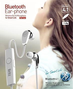 [britz] BE-M5 Bluetooth 4,1 auriculares inalámbricos ulva y micrófono para