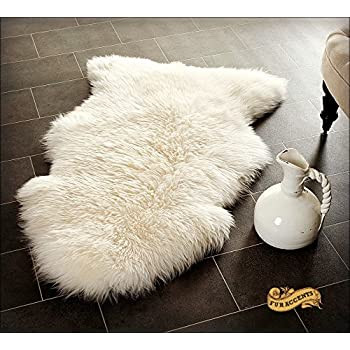 Amazon Com Fur Accents Shaggy Faux Fur Sheep Skin Pelt