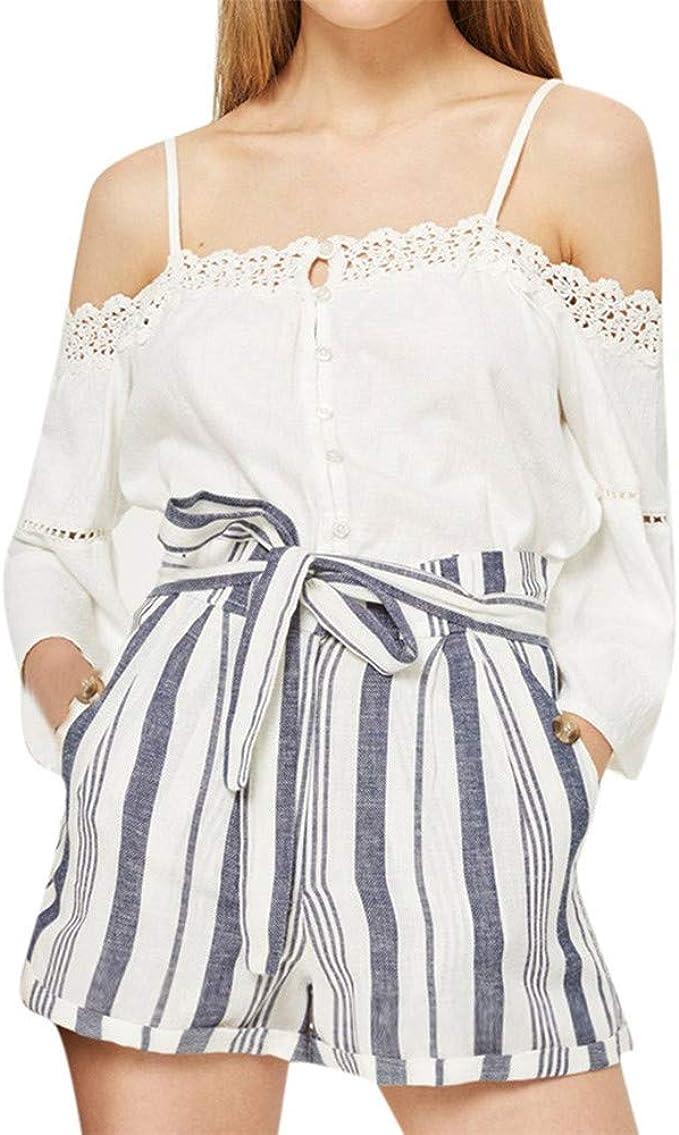 FELZ Pantalones Mujer Pantalones Cortos Deporte Pantalón de Verano ...