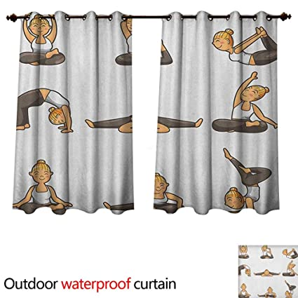 Amazon.com : Anshesix Yoga Home Patio Outdoor Curtain ...