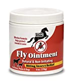 Happy Horse Fly Relief Ointment for Horses, Ponies, and Dogs, with Natural Plant Based Active Ingredients- 6oz