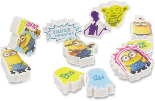 multicolores Gomme créatif de 12 Minions gommes Bob set mini KF1JuTlc3