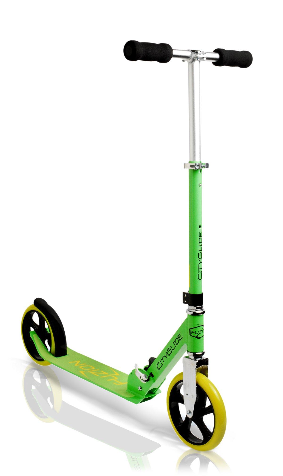 Fuzion Cityglide Adult Kick Scooter (Green) by Fuzion
